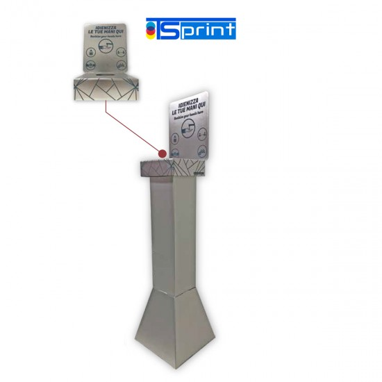 Colonnina porta-dispenser Covid-19