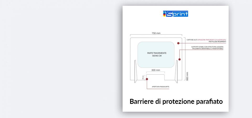 Barriere di protezione parafiato Covid-19